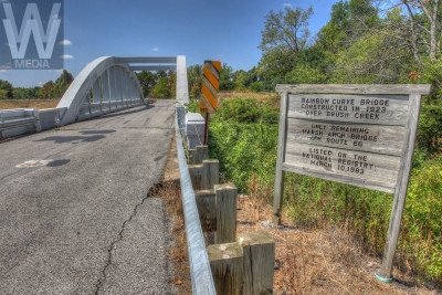 The Rainbow Curve bridge, Kansas (marsh arch bridge)