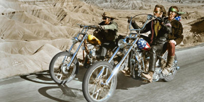 "Dennis Hopper's movie ""Easy Rider""."