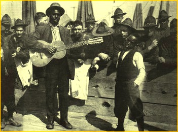 Traveling blues man in Atlanta, 1930